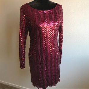 Charlotte Russe Dresses - Maroon Sequin Dress